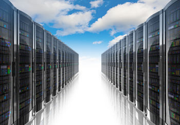 Isle of website hosting servers