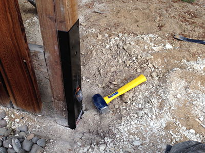 How to repair a broken fence post in concrete
