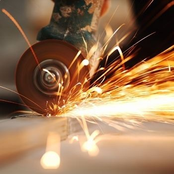 Angle Grinder Tool Shooting Sparks