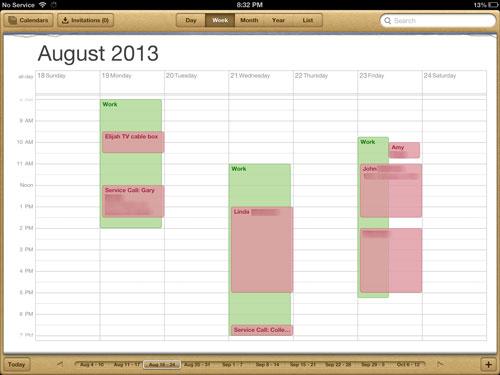 handyman business schedule 8-18-13