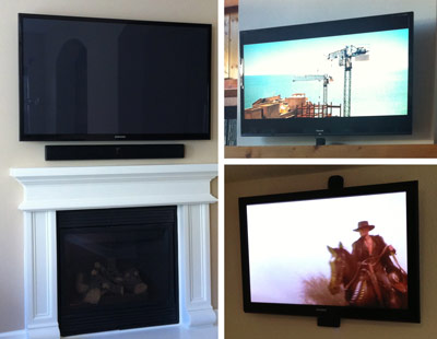 Examples of TV Wall Mount Jobs