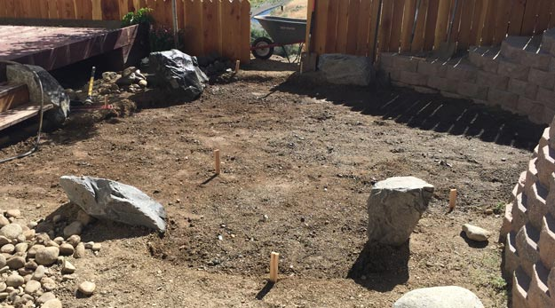 Digging for flagstone patio