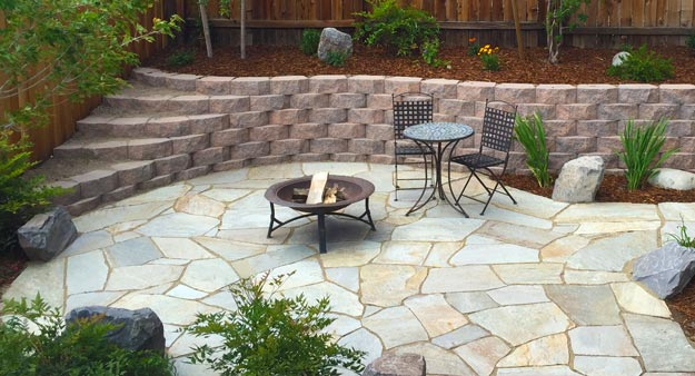 Finished Flagstone Patio